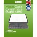 Filtr do oczyszczacza Meaco Clean CA-HEPA 119x5