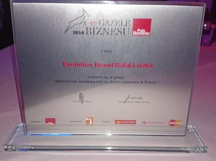 e-Gazele Biznesu - Statuetka dla Evolution Brand Rafał Liszka (Klima-Sklep.pl)