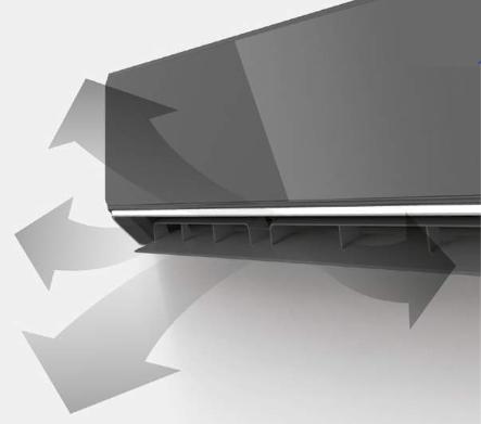 AUX Halo Deluxe AUX-12HE nawiew 4D klimatyzator ścienny