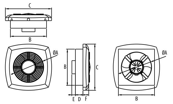 Dospel EF 250AS 290 wymiary