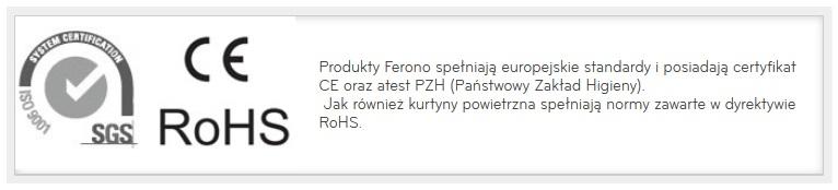 Kurtyny Ferono atest PZH