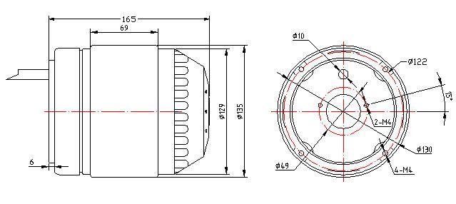 Wentylator Ferono FST630 v15 wymiary