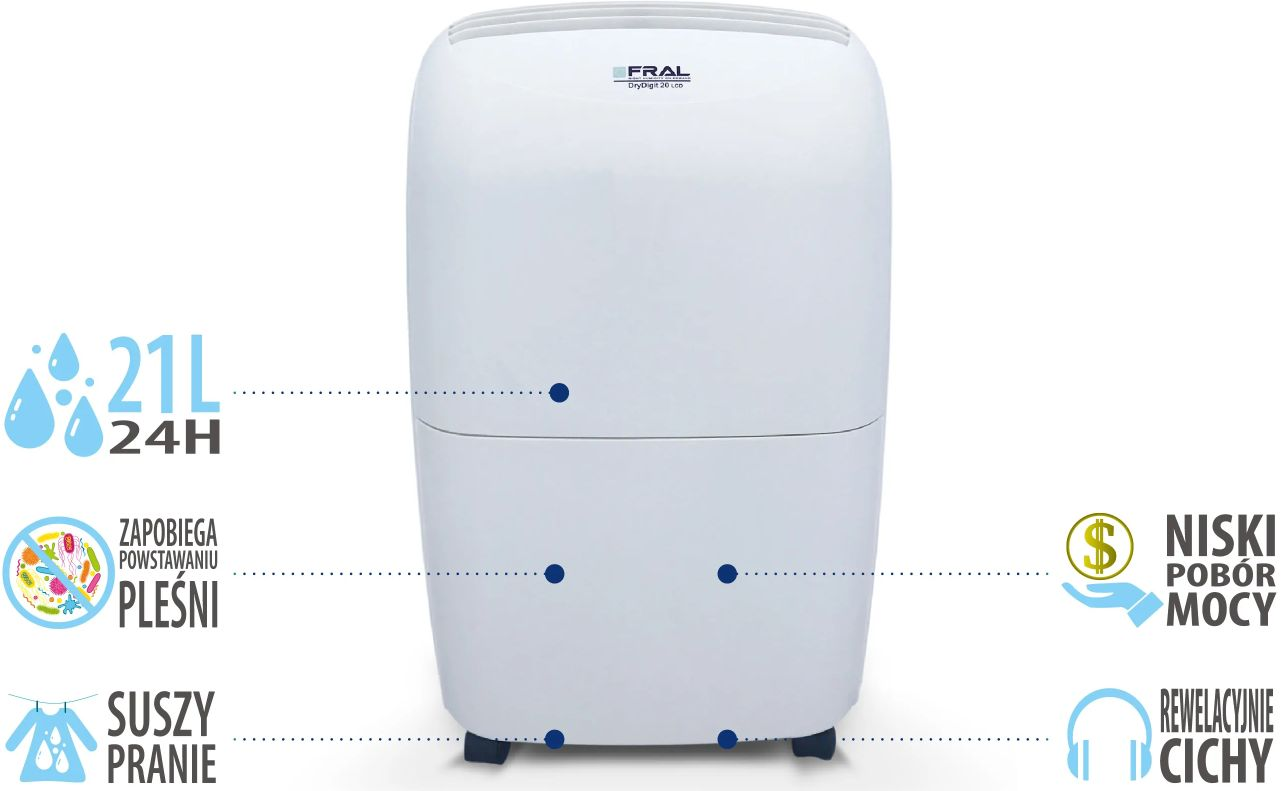 Zalety osuszacza powietrza Fral DryDigit21LCD