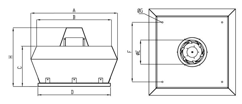 Wentylator dachowy Havaco RKV-450/5500 T