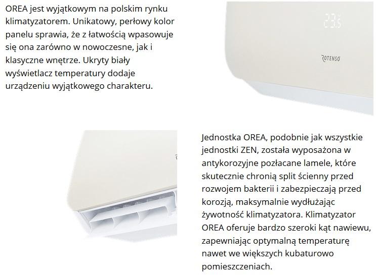 Klimatyzator ścienny Rotenso Orea O26Vi/O26Vo