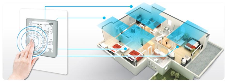 8 strefowe sterowanie Klimatyzator kanałowy Samsung AC180JNHPKH / AC180JXAPNH