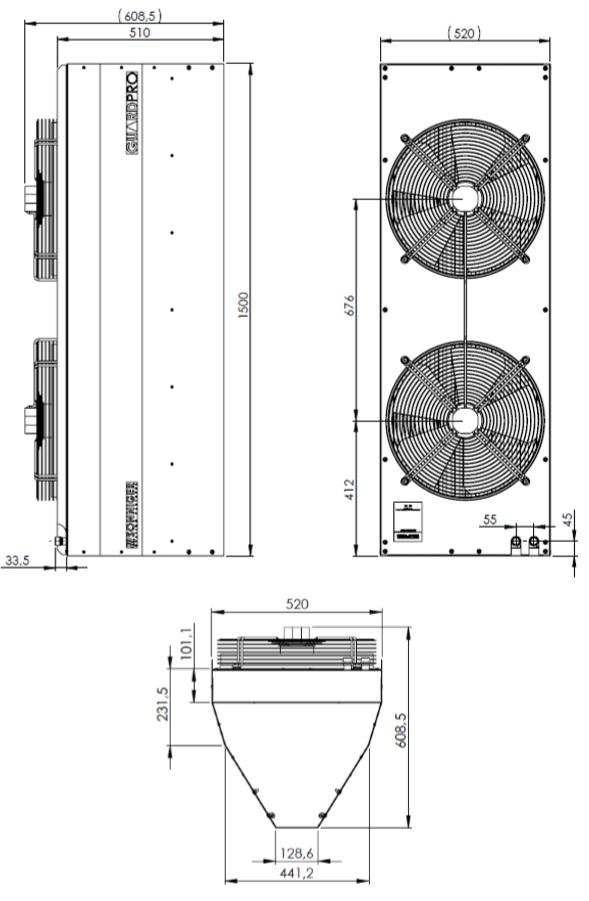 Sonniger Guard Pro 150W wymiary
