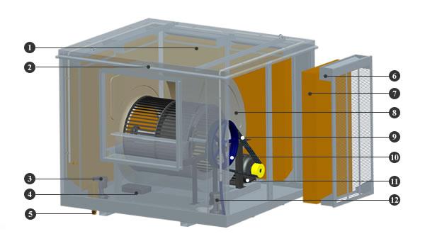 Klimatyzator ewaporacyjny Hitexa Royal HIT40-KB31A - budowa