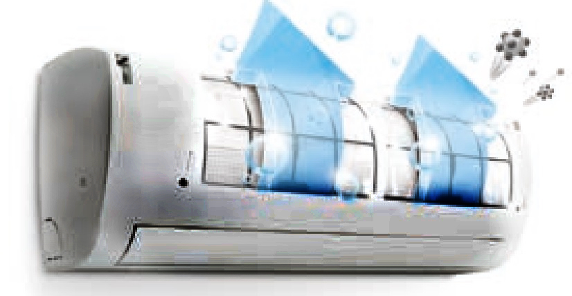 Automatyczne oczyszczanie w klimatyzatorze ściennym LG AC18SQ.NSK Artcool Silver