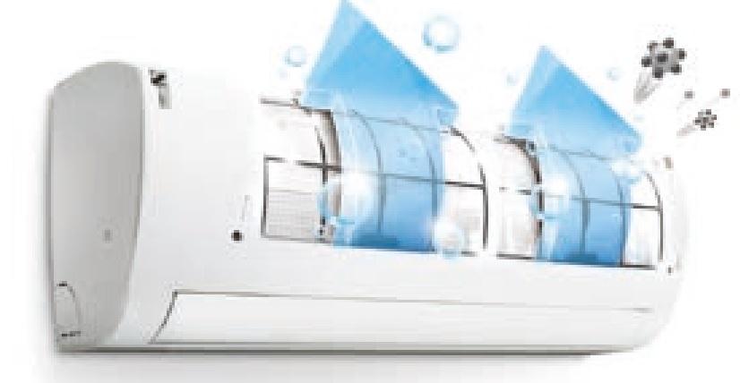 Automatyczne oczyszczanie w klimatyzatorze ściennym LG Deluxe DC24RQ.NSK