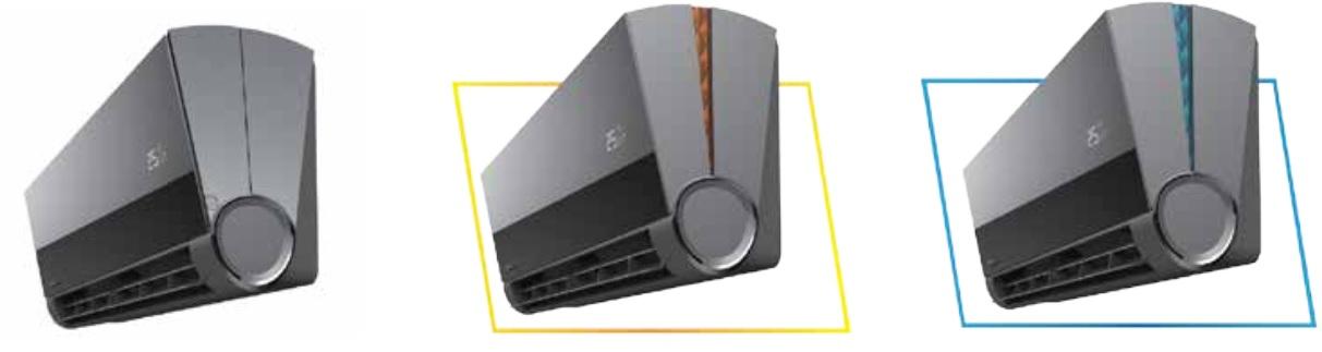 Podświetlona obudowa klimatyzatora ściennego Vivax ACP-18CH50AEVI